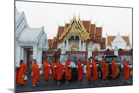 Monks Collecting Morning Alms, the Marble Temple (Wat Benchamabophit), Bangkok, Thailand-Christian Kober-Mounted Photographic Print