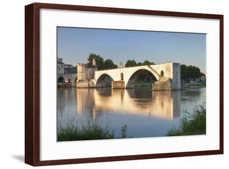 Bridge St. Benezet over Rhone River, Provence-Alpes-Cote D'Azur-Markus Lange-Framed Art Print
