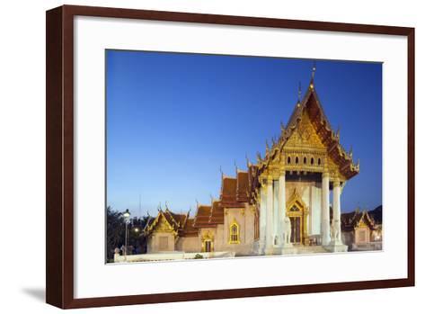 Wat Benchamabophit (The Marble Temple), Bangkok, Thailand, Southeast Asia, Asia-Christian Kober-Framed Art Print