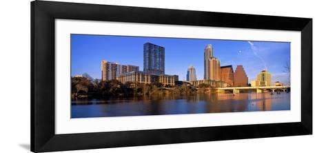 Skyscrapers at the Waterfront, Lady Bird Lake, Austin, Texas, Usa--Framed Art Print