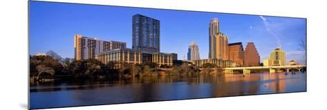 Skyscrapers at the Waterfront, Lady Bird Lake, Austin, Texas, Usa--Mounted Photographic Print