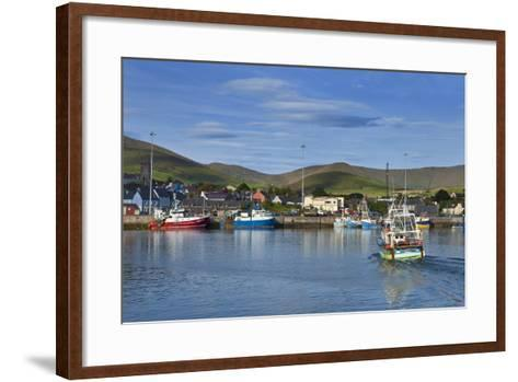Fishing Harbour in Dingle Town, Dingle Peninsula, County Kerry, Ireland--Framed Art Print