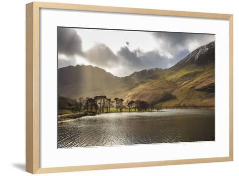 Shafts of Light Break Through Clouds to Illuminate the Fells in Winter, England-Eleanor Scriven-Framed Art Print