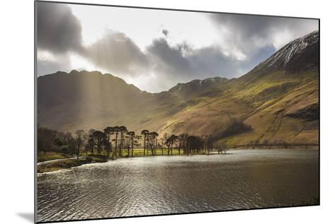 Shafts of Light Break Through Clouds to Illuminate the Fells in Winter, England-Eleanor Scriven-Mounted Photographic Print
