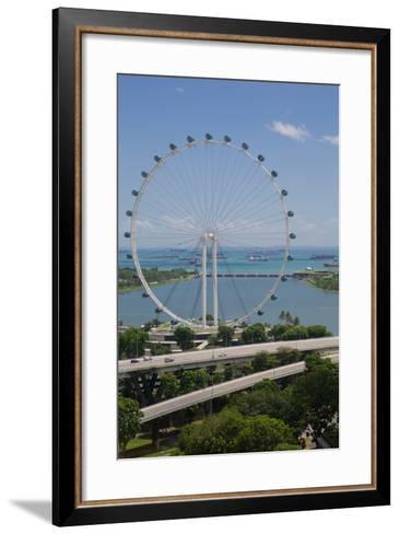 Marina Bay, Singapore Flyer, Singapore, Southeast Asia-Frank Fell-Framed Art Print