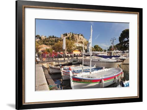 Fishing Boats at the Harbour, Southern France-Markus Lange-Framed Art Print