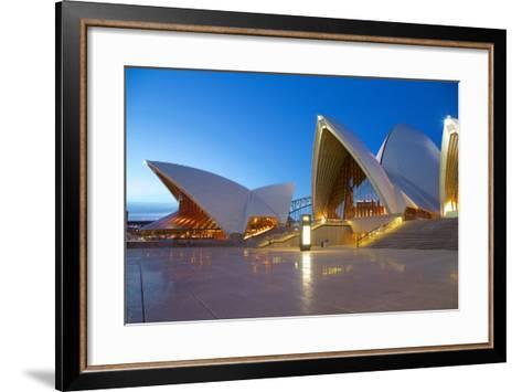 Sydney Opera House at Dusk, UNESCO World Heritage Site, Sydney, New South Wales, Australia, Oceania-Frank Fell-Framed Art Print