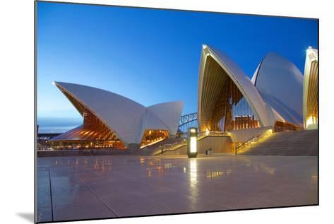 Sydney Opera House at Dusk, UNESCO World Heritage Site, Sydney, New South Wales, Australia, Oceania-Frank Fell-Mounted Photographic Print