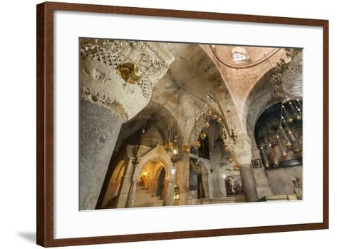 Chapel, Church of the Holy Sepulchre, Old City, Christian Quarter, Jerusalem, Middle East-Eleanor Scriven-Framed Art Print