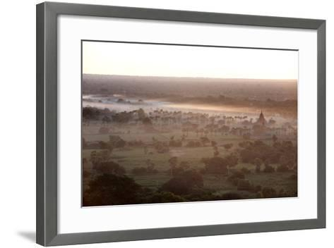 Mists from the Nearby Irrawaddy River Floating across Bagan (Pagan), Myanmar (Burma)-Annie Owen-Framed Art Print