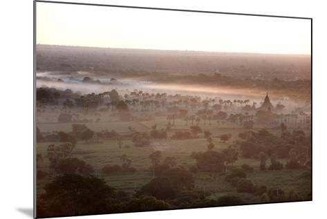Mists from the Nearby Irrawaddy River Floating across Bagan (Pagan), Myanmar (Burma)-Annie Owen-Mounted Photographic Print