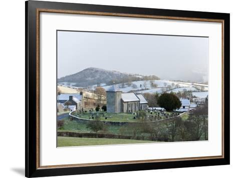 St. David's Church, Llanddewi'R Cwm, Powys, Wales, United Kingdom, Europe-Graham Lawrence-Framed Art Print