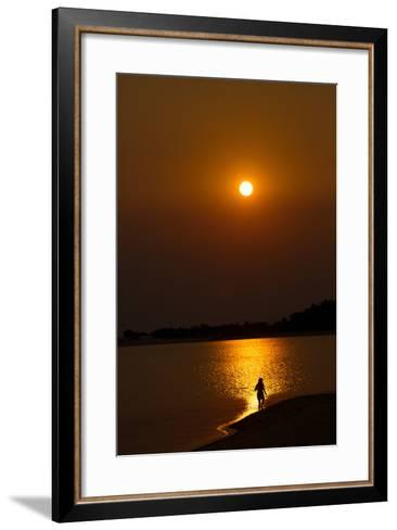 Sunset over the Tapajos River, Amazon, Alter Do Chao, Para, Brazil, South America-Alex Robinson-Framed Art Print