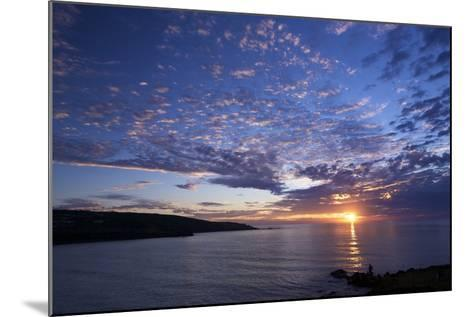 Sunset over Porthmeor Beach in St. Ives, Cornwall, England, United Kingdom, Europe-Peter Barritt-Mounted Photographic Print