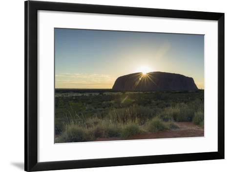 Uluru, Uluru-Kata Tjuta National Park, Northern Territory, Australia, Pacific-Ian Trower-Framed Art Print