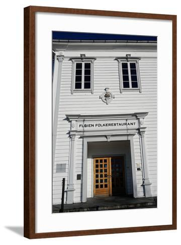 Restaurant on Mount Floyen, Bergen, Hordaland, Norway, Scandinavia, Europe-Robert Harding-Framed Art Print