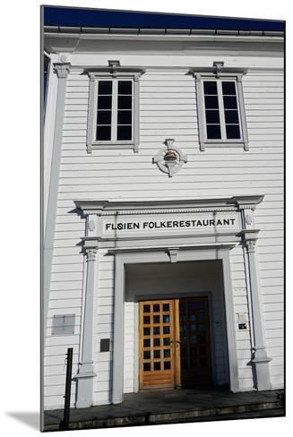 Restaurant on Mount Floyen, Bergen, Hordaland, Norway, Scandinavia, Europe-Robert Harding-Mounted Photographic Print