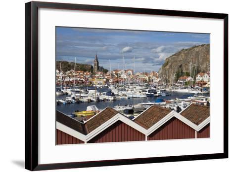 View over Harbour and Vetteberget Cliff, Fjallbacka, Bohuslan Coast, Southwest Sweden, Sweden-Stuart Black-Framed Art Print