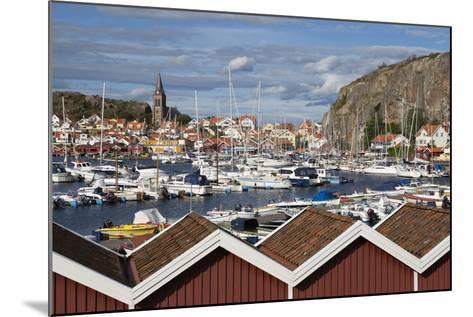 View over Harbour and Vetteberget Cliff, Fjallbacka, Bohuslan Coast, Southwest Sweden, Sweden-Stuart Black-Mounted Photographic Print