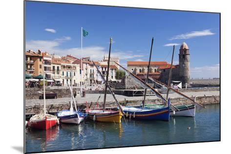 Traditional Fishing Boats at the Port, France-Markus Lange-Mounted Photographic Print