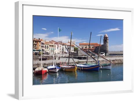 Traditional Fishing Boats at the Port, France-Markus Lange-Framed Art Print