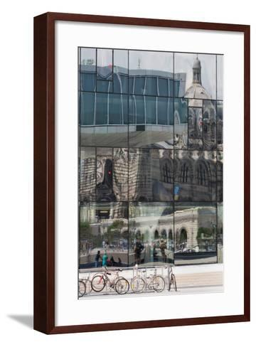 The New Mucem Gallery in Marseille with the Cathedral Reflected in the Glass, Provence, France-Martin Child-Framed Art Print