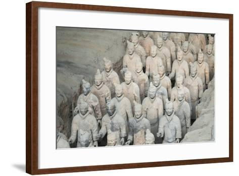 Museum of the Terracotta Warriors, Shaanxi Province, China-G & M Therin-Weise-Framed Art Print