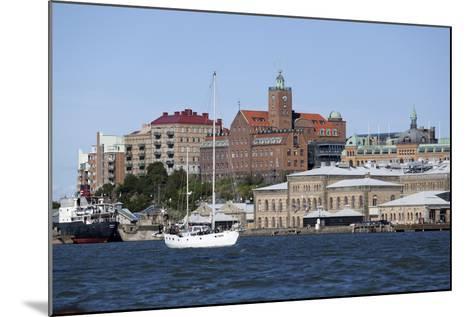 View across the Gota Alv River to Riverfront Buildings, Gothenburg, West Gothland, Sweden-Stuart Black-Mounted Photographic Print