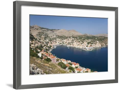 View over the Harbour from Hillside, Dodecanese Islands-Ruth Tomlinson-Framed Art Print