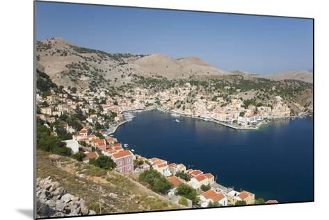 View over the Harbour from Hillside, Dodecanese Islands-Ruth Tomlinson-Mounted Photographic Print