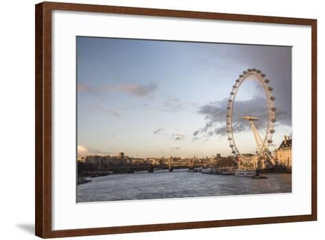The London Eye at Sunset (Millennium Wheel), South Bank, London, England, United Kingdom, Europe-Matthew Williams-Ellis-Framed Art Print