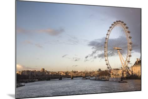 The London Eye at Sunset (Millennium Wheel), South Bank, London, England, United Kingdom, Europe-Matthew Williams-Ellis-Mounted Photographic Print