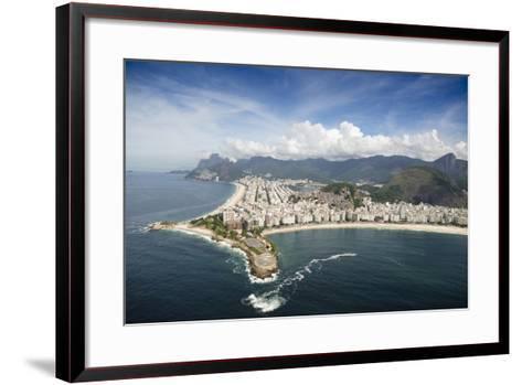 Aerial, Rio De Janeiro, Brazil, South America-Alex Robinson-Framed Art Print