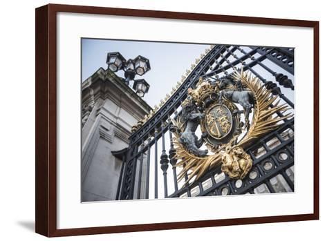 Royal Coat of Arms on the Gates at Buckingham Palace, London, England, United Kingdom, Europe-Matthew Williams-Ellis-Framed Art Print