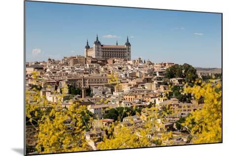 The Alcazar Towering Above the Rooftops of Toledo, Castilla La Mancha, Spain, Europe-Martin Child-Mounted Photographic Print