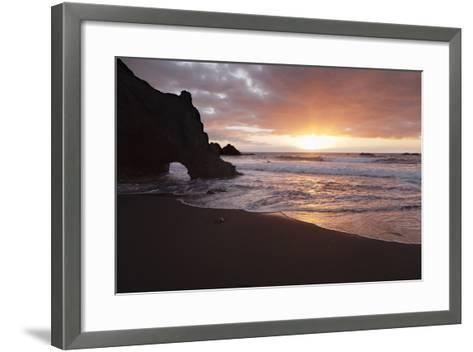 Zamora Beach at Sunset (Playa De La Zamora) Near Fuencaliente, La Palma, Canary Islands, Spain-Markus Lange-Framed Art Print
