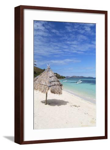 Beach on Mana Island, Mamanuca Islands, Fiji, South Pacific, Pacific-Ian Trower-Framed Art Print