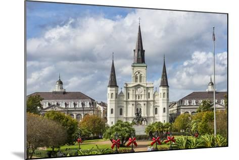 Old Horse Carts in Front of Jackson Square and the St. Louis Cathedral, New Orleans, Louisiana-Michael Runkel-Mounted Photographic Print