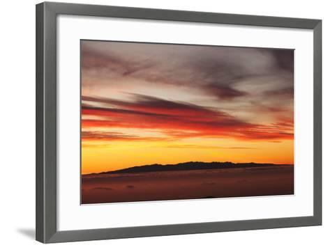 View from Tenerife to Gran Canaria, Tenerife, Canary Islands, Spain, Europe-Markus Lange-Framed Art Print