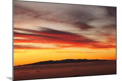 View from Tenerife to Gran Canaria, Tenerife, Canary Islands, Spain, Europe-Markus Lange-Mounted Photographic Print