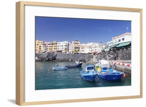 Fishing Boats at the Port, Los Abrigos, Tenerife, Canary Islands, Spain, Europe-Markus Lange-Framed Art Print
