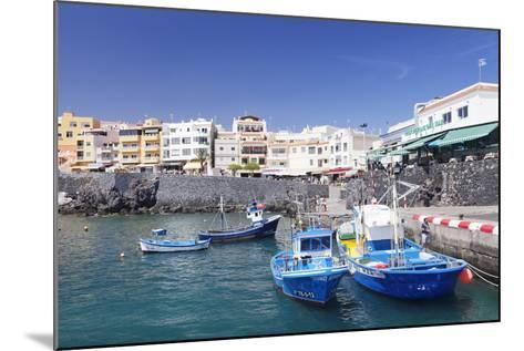 Fishing Boats at the Port, Los Abrigos, Tenerife, Canary Islands, Spain, Europe-Markus Lange-Mounted Photographic Print