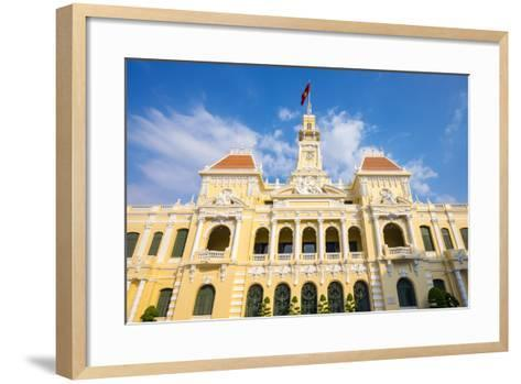 Colonial Facade of Ho Chi Minh City Hall (Ho Chi Minh City People's Committee), Vietnam-Jason Langley-Framed Art Print