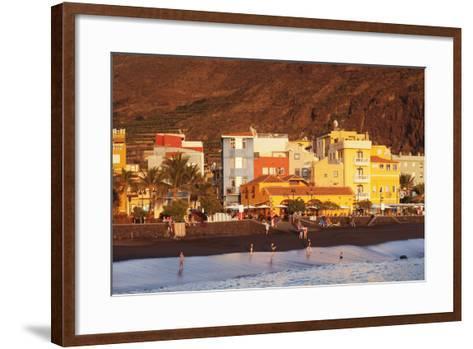 Playa Del Puerto Beach, Puerto De Tazacorte, La Palma, Canary Islands, Spain, Europe-Markus Lange-Framed Art Print