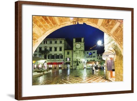 Clock Tower, Kotor, UNESCO World Heritage Site, Montenegro, Europe-Christian Kober-Framed Art Print