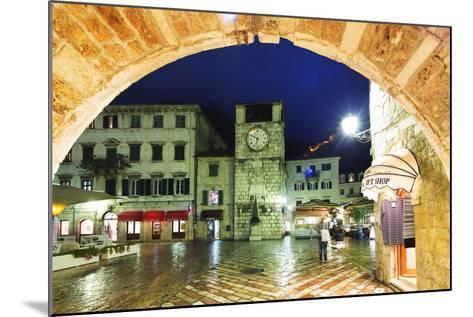 Clock Tower, Kotor, UNESCO World Heritage Site, Montenegro, Europe-Christian Kober-Mounted Photographic Print