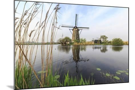 Green Grass Frames the Windmills Reflected in the Canal, Netherlands-Roberto Moiola-Mounted Photographic Print