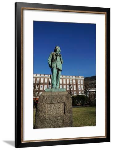 Statue of Composer Edvard Grieg, Bergen, Hordaland, Norway, Scandinavia, Europe-Robert Harding-Framed Art Print