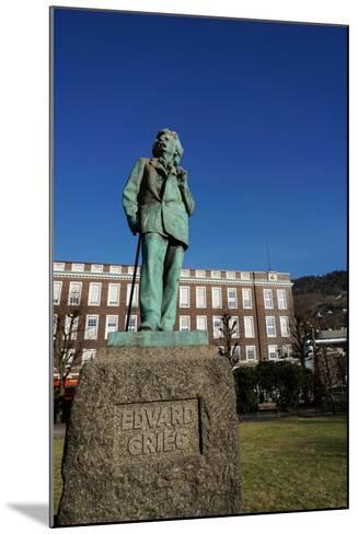 Statue of Composer Edvard Grieg, Bergen, Hordaland, Norway, Scandinavia, Europe-Robert Harding-Mounted Photographic Print