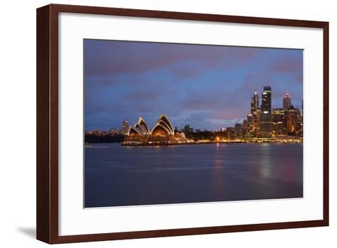 Opera House from North Sydney, Sydney, New South Wales, Australia, Oceania-Frank Fell-Framed Art Print